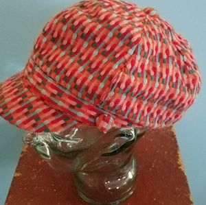 Houndstooth Multi-color Fashion Hat